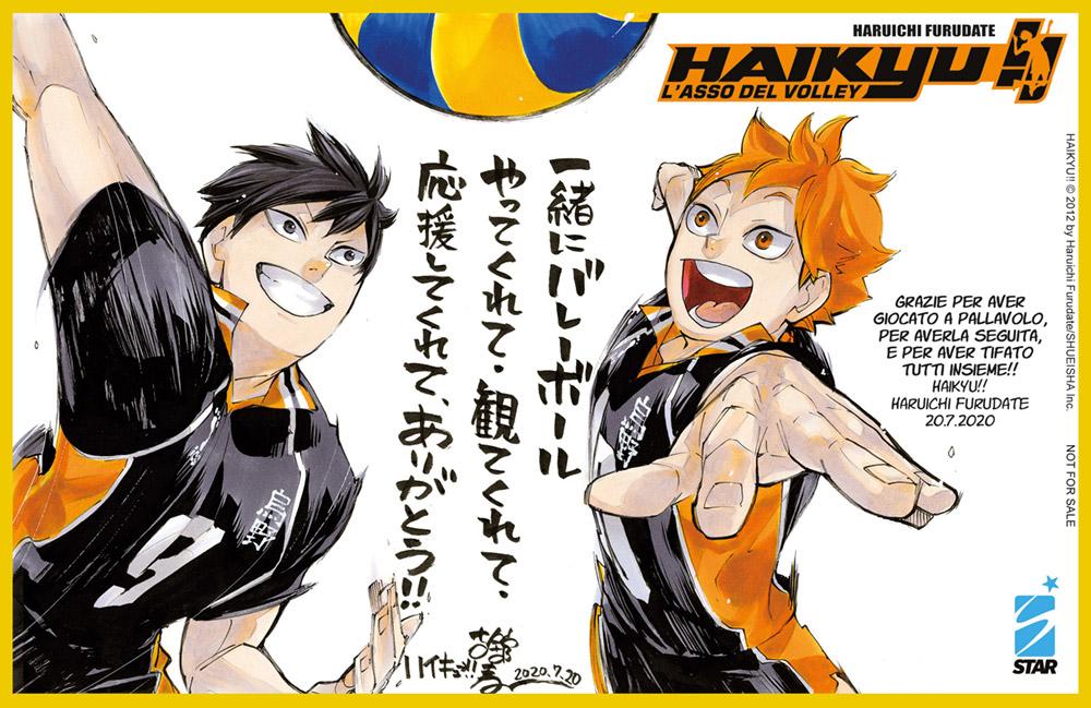 Mini-shikishi con Haikyu!! n.45