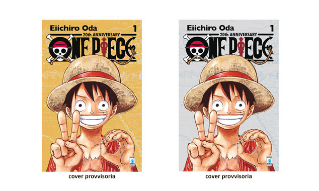 ONE PIECE 20th ANNIVERSARY LIMITED EDITION GOLD E SILVER